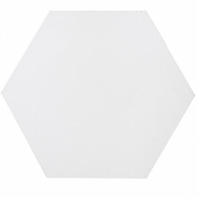Heksagonalne kafle jednobarwne - białe