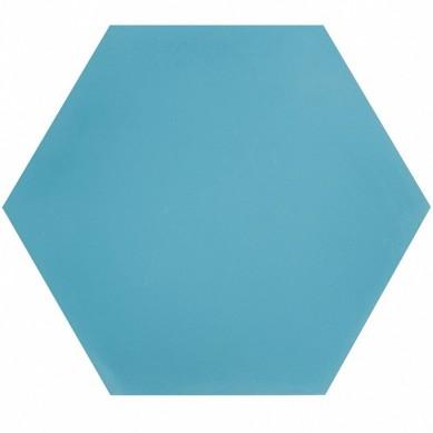 Heksagonalne kafle jednobarwne - niebieskie