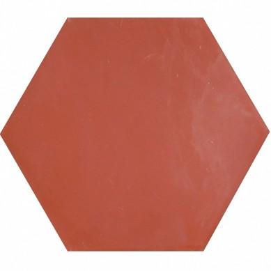 Heksagonalne kafle jednobarwne - czerwone