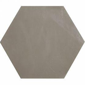 Heksagonalne płytki jednobarwne - szare