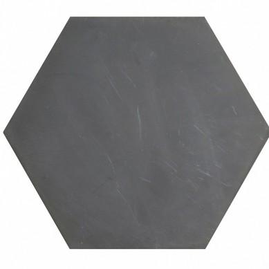 Heksagonalne kafle jednobarwne - czarne