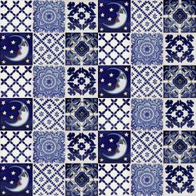 Zestaw 6 wzorów - 30 płytek - kolor niebieski