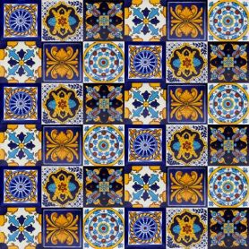 Zemel- zestaw 6 wzorów - 30 płytek - kolor niebieski