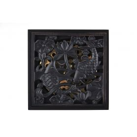 Kasnik - czarny mosiężny odpływ prysznicowy retro