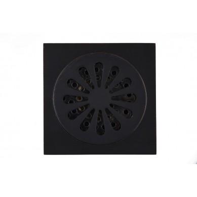 Trapik - czarny odpływ prysznicowy